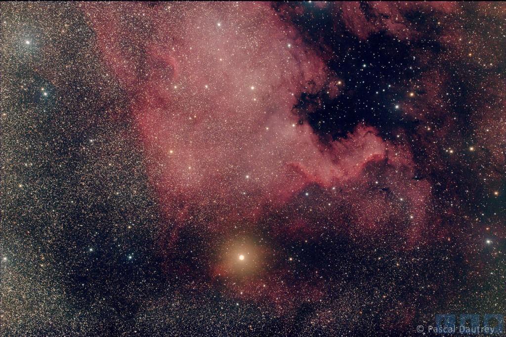 Nébuleuse Nord America photographiée depuis l'observatoire de Macey par Pascal DAUTREY.